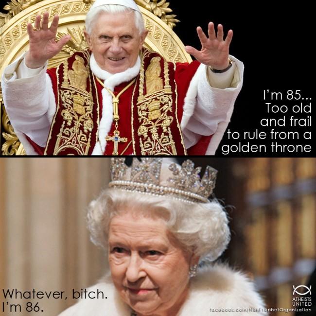 Pope vs Queen Meme