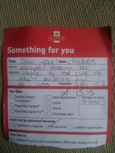 A polite postman.